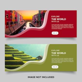 Modèles de bannière de voyage créatifs modernes