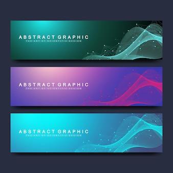 Modèles de bannières abstraites pour site web