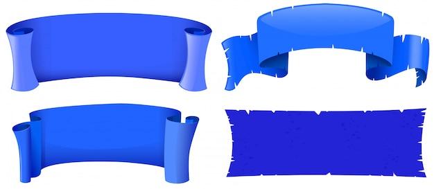 Modèles de bannières de couleur bleue