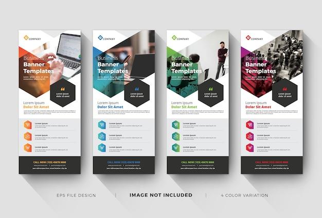 Modèles de bannières d'entreprise créatives
