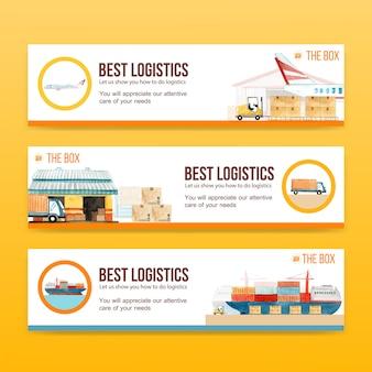 Modèles de bannières logistiques