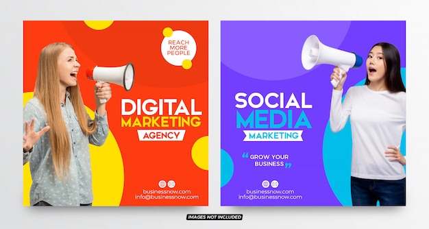 Modèles de bannières marketing sur les réseaux sociaux