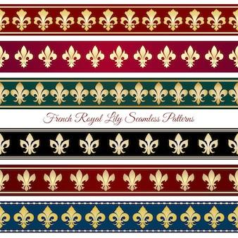 Modèles de bordure transparente royale. décor vintage victorien, illustration vectorielle rétro floral