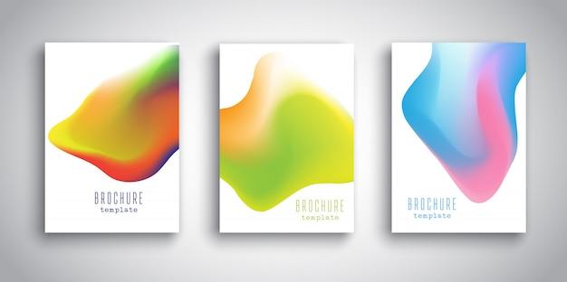 Modèles de brochure avec des conceptions fluides 3d abstraites