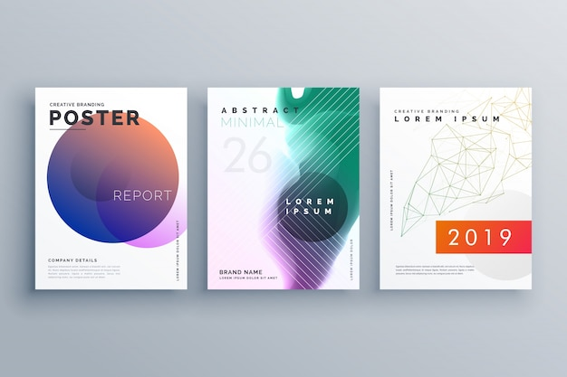 Modèles de brochure définis dans un style minimal pour la présentation d'entreprise ou la conception de couverture de magazine en taille a4
