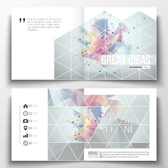 Modèles de brochure design carré