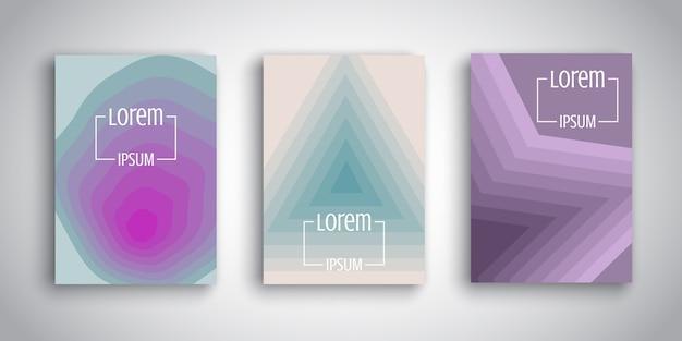 Modèles de brochure avec des dessins rétro abstraits