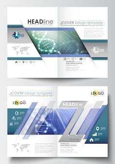 Modèles de brochure, magazine, flyer, livret. modèle de conception de la couverture au format a4.