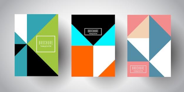 Modèles de brochures avec des conceptions abstraites low poly