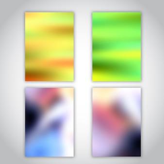 Modèles de brochures avec des dessins abstraits flous