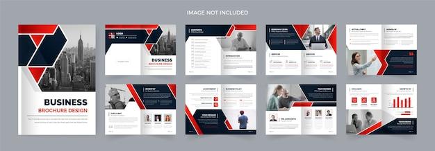 Modèles de brochures d'entreprise de 16 pages