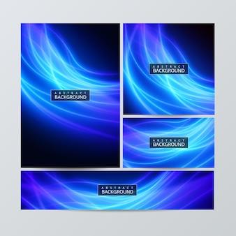 Modèles de brochures de papeterie d'entreprise avec des éléments d'infographie