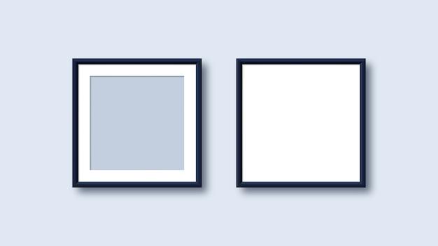 Modèles de cadre photo vierge réaliste