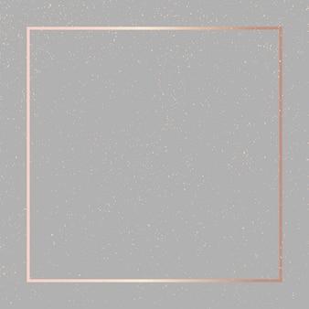Modèles cadre square fluide art gold fashion