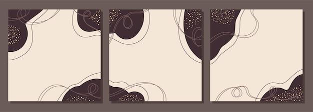 Modèles carrés abstraits avec des formes aléatoires