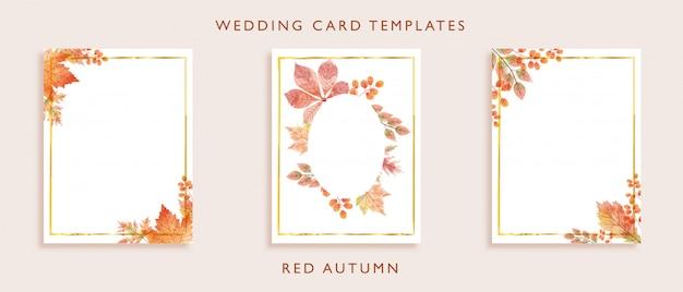 Modèles de carte de mariage élégant