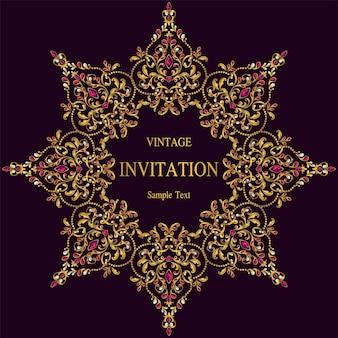 Modèles de cartes d'invitation de mariage.