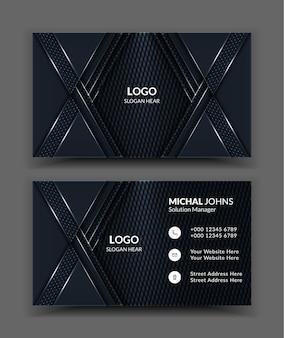 Modèles de cartes de visite black clean et corporate.