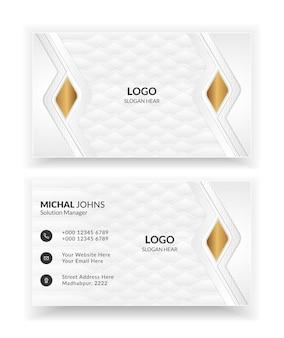 Modèles de cartes de visite blanches.