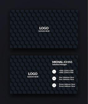 Modèles de cartes de visite d'entreprise black creative and clean