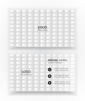 Modèles de cartes de visite d'entreprise créatives et propres blanches.