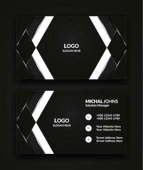 Modèles de cartes de visite noir et blanc.
