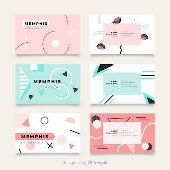 Modèles de cartes de visite de style memphis