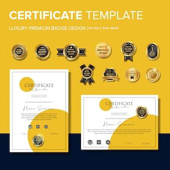 Modèles de certificats créatifs avec badges
