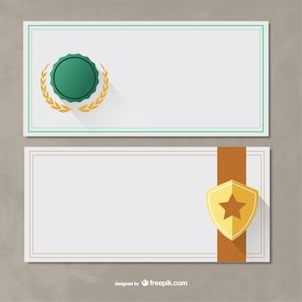 Modèles de certificats paquet