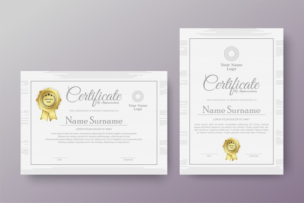 Modèles de certificats professionnels