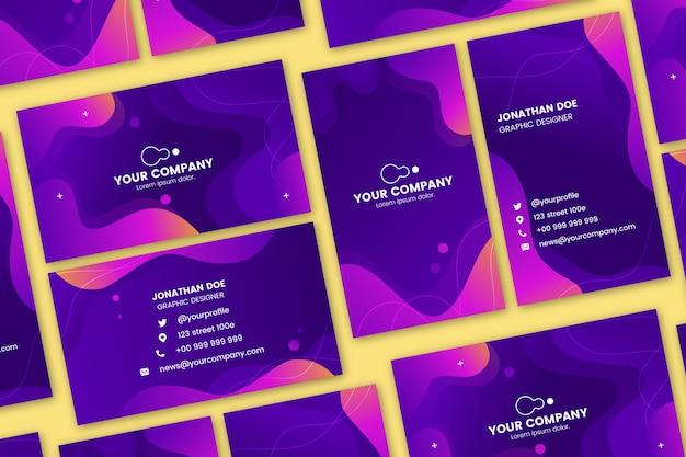 Modèles colorés abstraits pour carte de visite