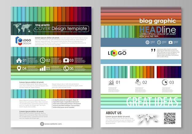 Modèles commerciaux graphiques de blog