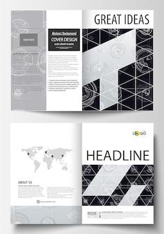 Modèles commerciaux pour brochure bi fold