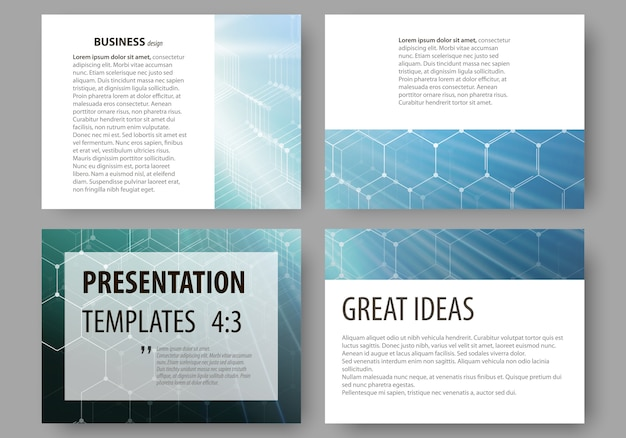 Modèles commerciaux pour les diapositives de présentation.