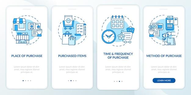 Modèles de comportement des acheteurs lors de l'intégration de l'écran de la page d'application mobile avec des concepts