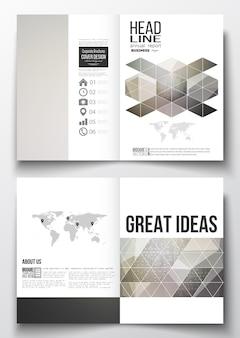 Modèles de conception a4 pour brochure