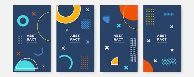 Modèles de conception de bannières dans un style simple et moderne avec espace de copie