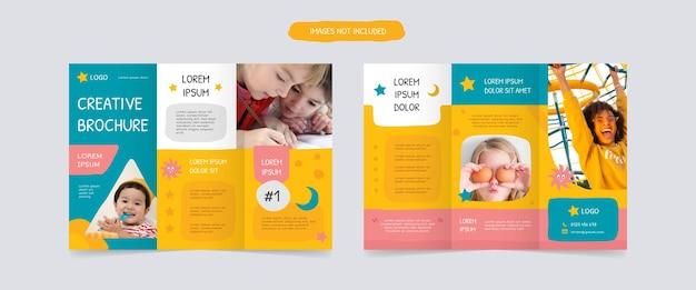 Modèles de conception de brochures à trois volets ludiques
