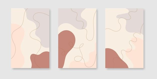 Modèles de conception de couverture créative abstraite pour les histoires de médias sociaux