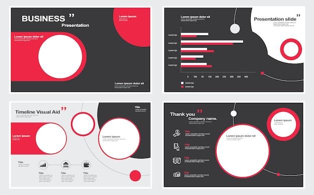 Modèles de conception de diapositives de présentation sur fond blanc illustration vectorielle d'infographies