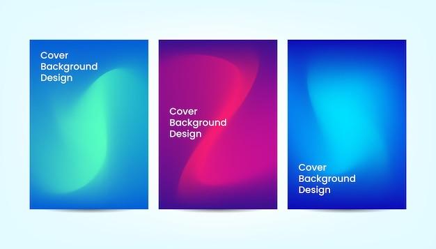Modèles de conception de fond de couverture abstraite. composition de formes en dégradé fluide avec des couleurs vives.