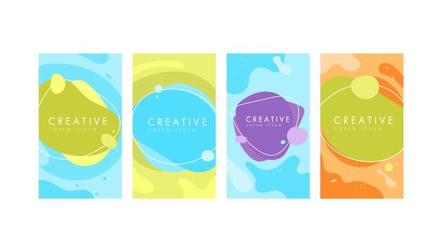 Les modèles de conception géométrique abstraite pour les affiches couvrent les fonds d'écran pour les histoires de médias sociaux