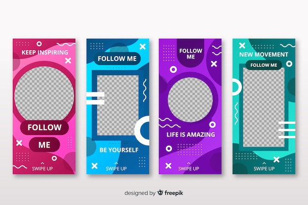 Modèles de conception d'histoires instagram