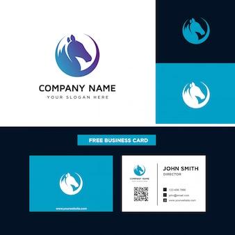 Modèles de conception de logo de cheval