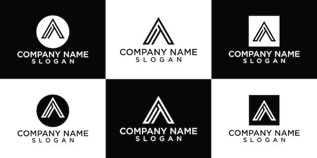 Modèles de conception de logo à plat