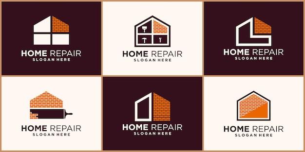Modèles de conception de logo de réparation à domicile