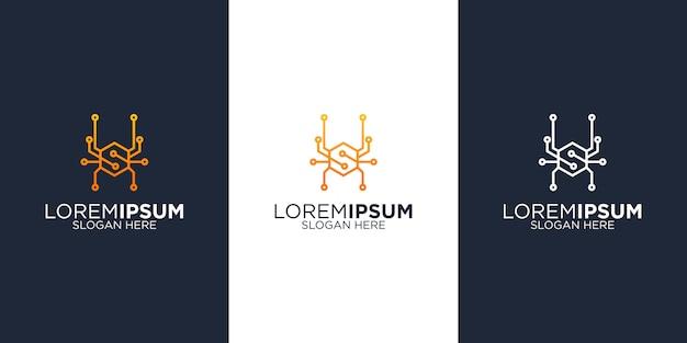 Modèles de conception de logo spider tech