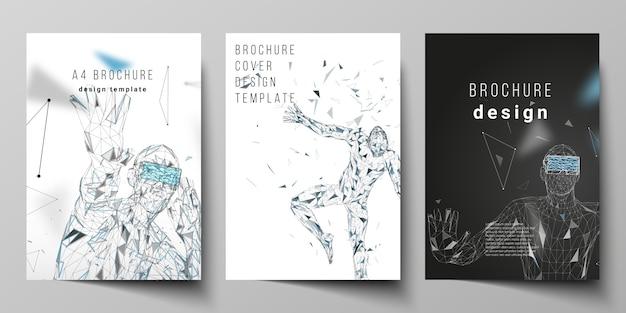 Modèles de conception de maquette de couverture moderne de format a4