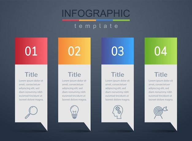 Modèles de conception modernes pour présenter des informations marketing ou des informations de planification d'entreprise