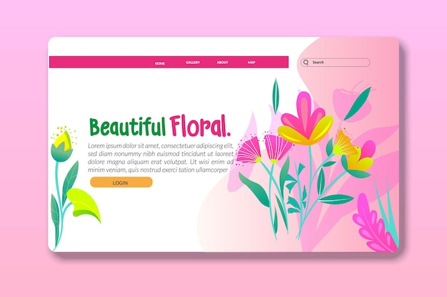 Modèles de conception de pages de destination ou de pages web pour le développement de sites web de soins du corps cosmétiques